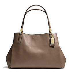 MADISON LEATHER  CAFE CARRYALL - f27859 - LIGHT GOLD/SILT