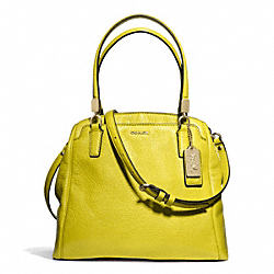 COACH F27862 - MADISON LEATHER MINETTA LIGHT GOLD/ACID GREEN
