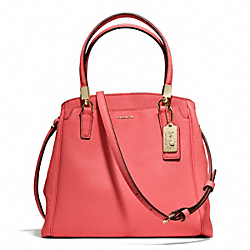 COACH F27886 Madison Saffiano Minetta Crossbody LIGHT GOLD/LOVE RED