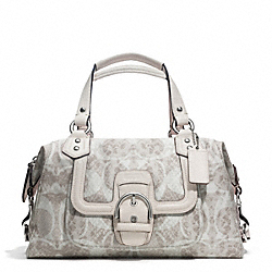 COACH F27892 Campbell Snake C Print Satchel SILVER/DOVE MULTICOLOR
