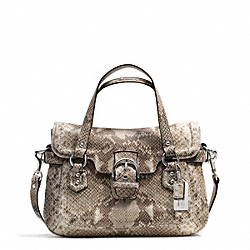 COACH F27895 Campbell Exotic Leather Small Flap Satchel