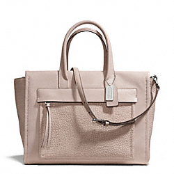 COACH F27927 - BLEECKER LEATHER POCKET CARRYALL SILVER/GREY BIRCH