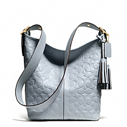 EMBOSSED LEATHER DUFFLE - f27959 - 32075