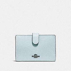 COACH F27968 Medium Corner Zip Wallet DK/SKY