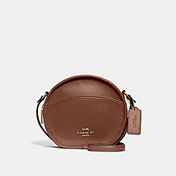 CANTEEN CROSSBODY - F27971 - SADDLE 2/LIGHT GOLD