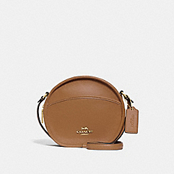 CANTEEN CROSSBODY - F27971 - LIGHT SADDLE/IMITATION GOLD