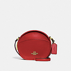 COACH F27971 Canteen Crossbody RUBY/LIGHT GOLD