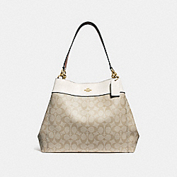 LEXY SHOULDER BAG IN SIGNATURE CANVAS - f27972 - LIGHT KHAKI/CHALK/IMITATION GOLD