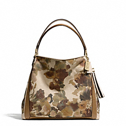 COACH F28019 Madison Camo Print Fabric Small Phoebe Shoulder Bag LIGHT GOLD/MULTICOLOR