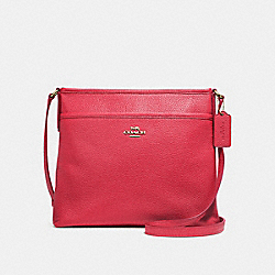FILE CROSSBODY - f28035 - TRUE RED/light gold
