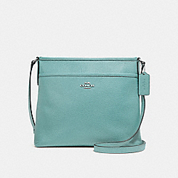 COACH F28035 File Crossbody SILVER/AQUAMARINE