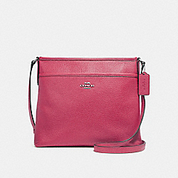 COACH F28035 File Crossbody SILVER/HOT PINK