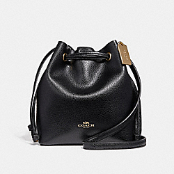 DERBY CROSSBODY - f28039 - BLACK/IMITATION GOLD