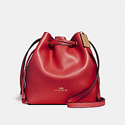 COACH F28039 - DERBY CROSSBODY TRUE RED/LIGHT GOLD