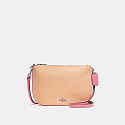TRANSFORMABLE CROSSBODY IN COLORBLOCK - f28040 - SILVER/PINK MULTI