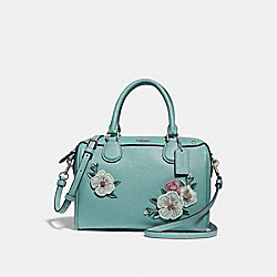 MINI BENNETT SATCHEL WITH FLORAL EMBROIDERY - f28075 - SVNGV