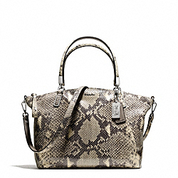 COACH F28087 Madison Python Embossed Small Kelsey Satchel SILVER/MULTICOLOR