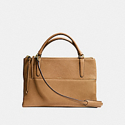 COACH F28160 The Borough Bag In Pebble Leather  GOLD/CAMEL