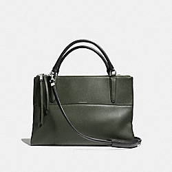 COACH F28160 - THE PEBBLED LEATHER BOROUGH BAG SILVER/ALPINE MOSS
