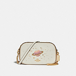 ISLA CHAIN CROSSBODY WITH SPACE MOTIF - f28175 - chalk/platinum/light gold