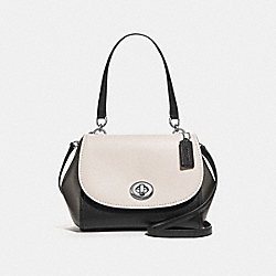 FAYE CARRYALL IN COLORBLOCK - f28178 - CHALK MULTI/SILVER