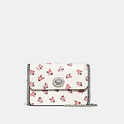 BOWERY CROSSBODY WITH FLORAL BLOOM PRINT - F28184 - CHALK/SILVER