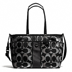 COACH F28205 Signature Multi Stripe Multifunction Tote