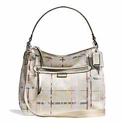COACH F28284 - DAISY 24CM SIGNATURE TATTERSALL CONVERTIBLE HOBO ONE-COLOR