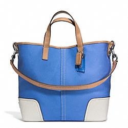 COACH F28286 Hadley Twill Duffle SILVER/BRILLIANT BLUE