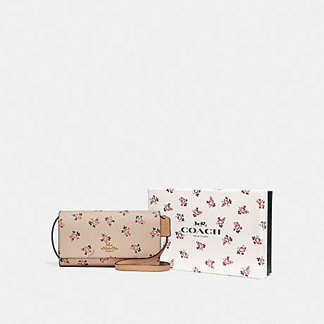 COACH F28328 BOXED PHONE CROSSBODY WITH FLORAL BLOOM PRINT LI/BEECHWOOD-FLORAL-BLOOM