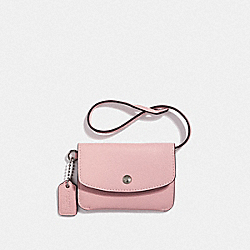 COACH F28329 - CARD POUCH PEONY/SILVER