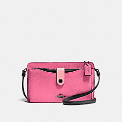 COACH F28337 Noa Pop-up Messenger In Colorblock BRIGHT PINK/MULTI/DARK GUNMETAL