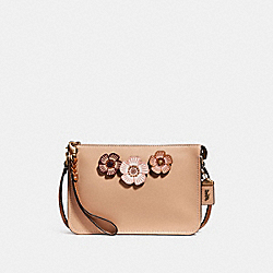 SOHO CROSSBODY WITH TEA ROSE - F28429 - BEECHWOOD/OLD BRASS