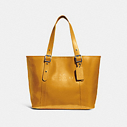 COACH F28471 Ferry Tote CANARY/BLACK ANTIQUE NICKEL