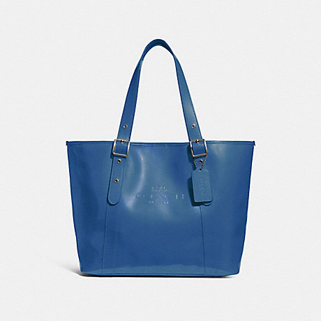 COACH f28471 FERRY TOTE INK BLUE/BLACK ANTIQUE NICKEL