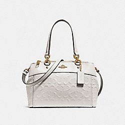 MINI BROOKE CARRYALL IN SIGNATURE LEATHER - f28472 - CHALK/LIGHT GOLD