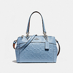 COACH F28472 - MINI BROOKE CARRYALL IN SIGNATURE LEATHER SILVER/POOL