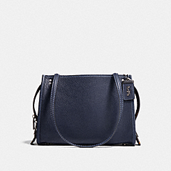 COACH F28484 Rogue Shoulder Bag MIDNIGHT NAVY/BLACK COPPER