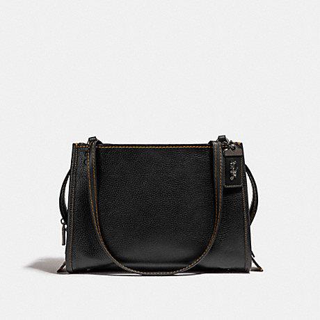 COACH F28484 ROGUE SHOULDER BAG BLACK/BLACK COPPER