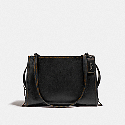 COACH F28484 Rogue Shoulder Bag BLACK/BLACK COPPER