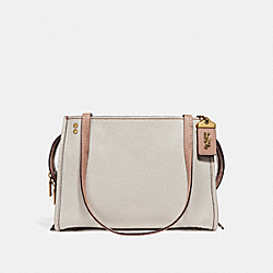 COACH F28484 Rogue Shoulder Bag CHALK/OLD BRASS
