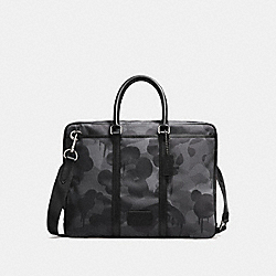 COACH F28490 - METROPOLITAN SLIM BRIEF WITH WILD BEAST PRINT CHARCOAL/BLACK ANTIQUE NICKEL