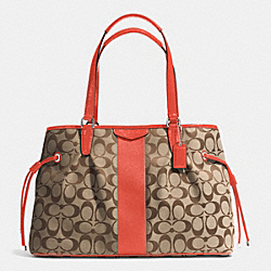 COACH F28501 - SIGNATURE STRIPE 12CM DRAWSTRING CARRYALL SVDI2
