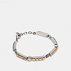COACH F28538 Tea Rose Tennis Bracelet SV/ROSE