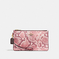 COACH F28556 Crosby Clutch LIGHT GOLD/OXBLOOD MULTI