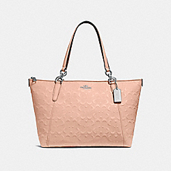 COACH F28558 Ava Tote In Signature Leather NUDE PINK/LIGHT GOLD