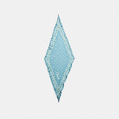 COACH F28560 COACH FLORAL SILK DIAMOND AQUAMARINE