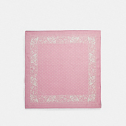 COACH F28564 Rose Print Silk Bandana BLUSH