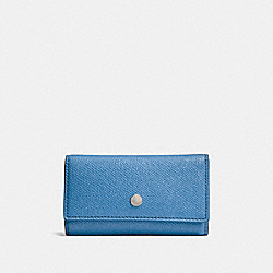 COACH F28568 - FOUR RING KEY CASE BLUE JAY