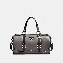 COACH F28698 - CARRYALL WITH HARNESS DETAIL HEATHER GREY/LIGHT ANTIQUE NICKEL